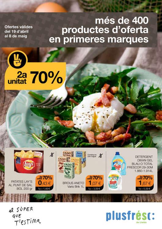 Ofertas de Plusfresc, més de 400 productes d'oferta en primeres marques