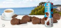 Deliciosas láminas de chocolate con leche con crujientes cereales