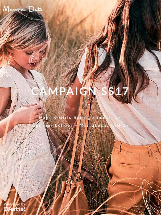 Ofertas de Massimo Dutti, Kids Campaign SS17