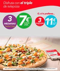 Disfruta con el triple de Telepizza