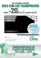 Ofertas de El Corte Inglés, Hasta -20% en TV a partir de 48