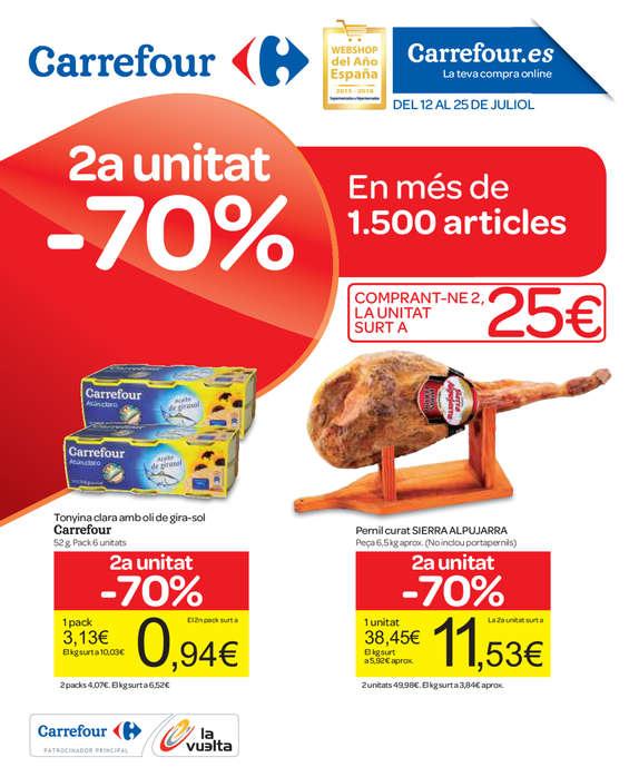 Ofertas de Carrefour, 2a unitat al 70%