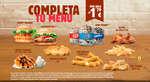 Ofertas de Burger King, Completa tu menú