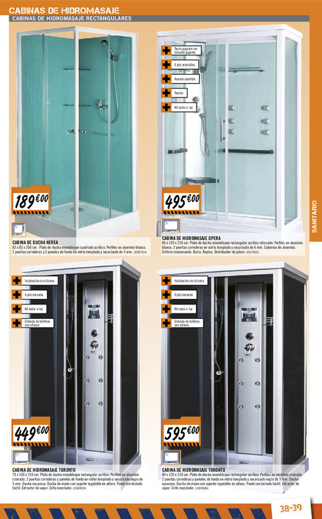Cabinas de ducha ofertas - Cabinas de ducha precios ...