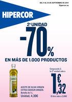 Ofertas de HiperCor, 2ª Unidad -70% en más de 1.000 productos