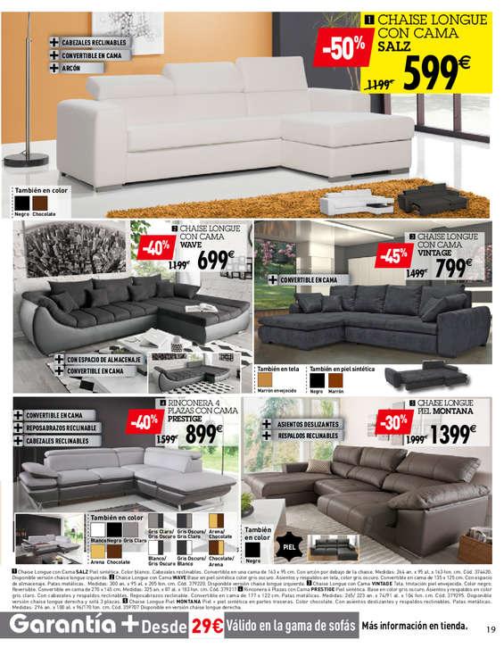 Conforama sof cama ofertas y cat logos destacados ofertia for Catalogos sofas precios