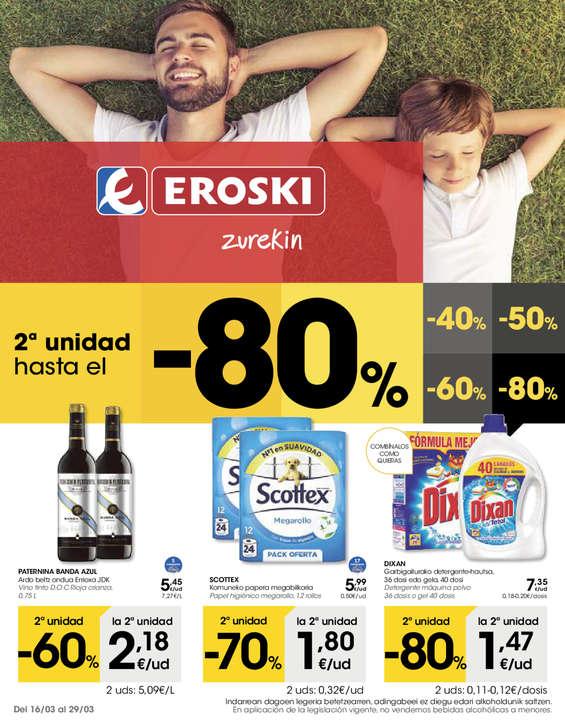 Ofertas de Eroski, 2ª unidad hasta el -80%
