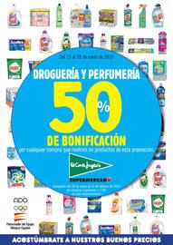 50% de Bonificación en Droguería y Perfumería