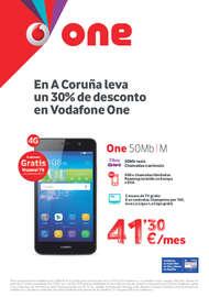 En A Coruña Leva un 30% de desconto en Vodafone One