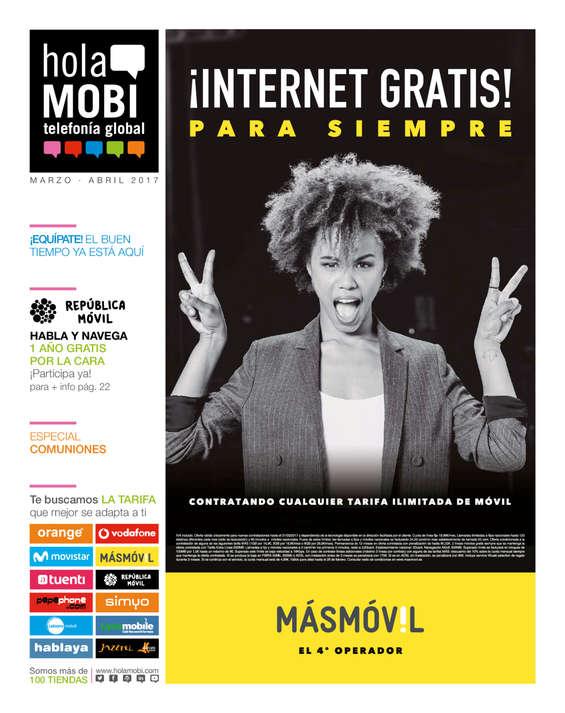 Ofertas de HolaMOBI, ¡Internet gratis!