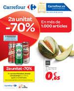 Ofertas de Carrefour, 2a unitat -70% en més de 1000 articles