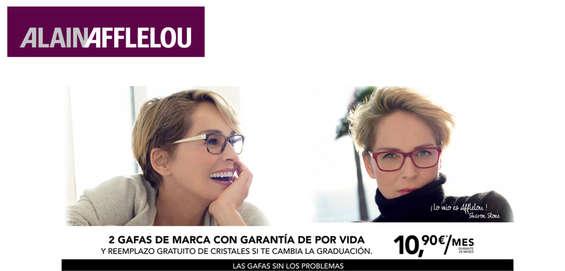 Ofertas de Alain Afflelou, 2 gafas de marca con garantía de por vida