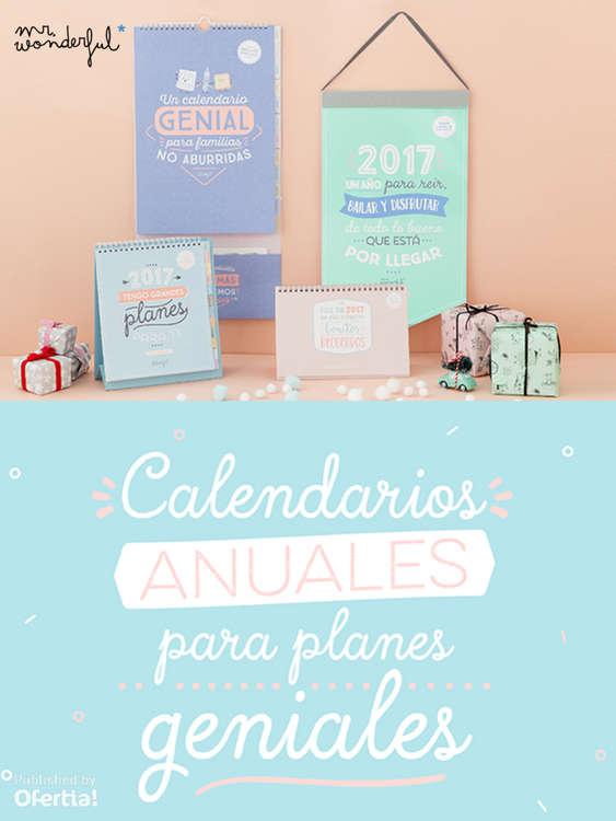 Ofertas de Mr Wonderful, Calendarios