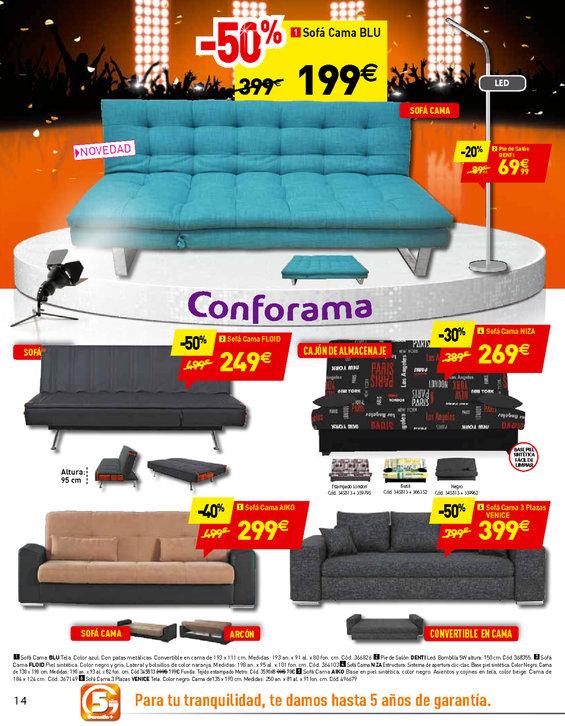 Ofertas de Conforama, 14 días de precios estrella