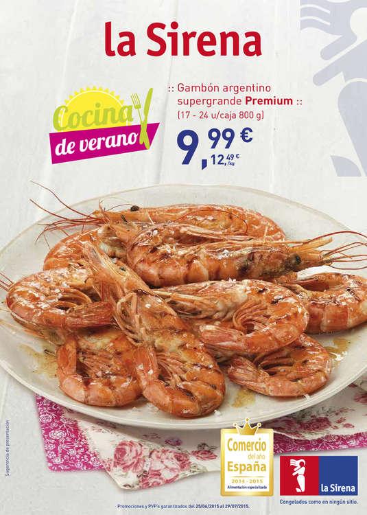 Ofertas de La Sirena, Cocina de verano