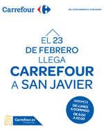 Ofertas de Carrefour, El 23 de Febrero llega Carrefour a San Javier