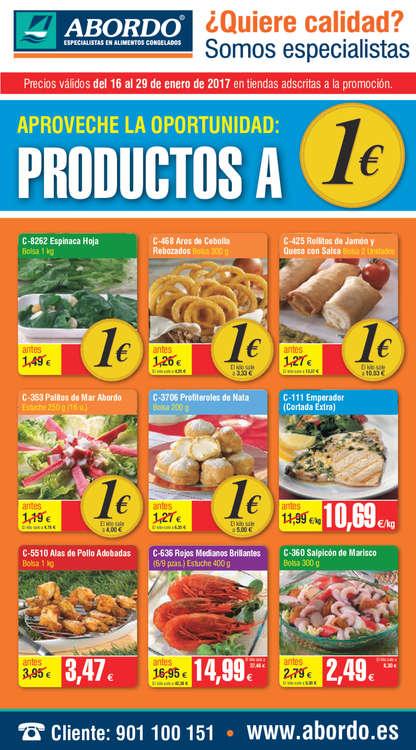 Ofertas de Abordo, Productos a 1€