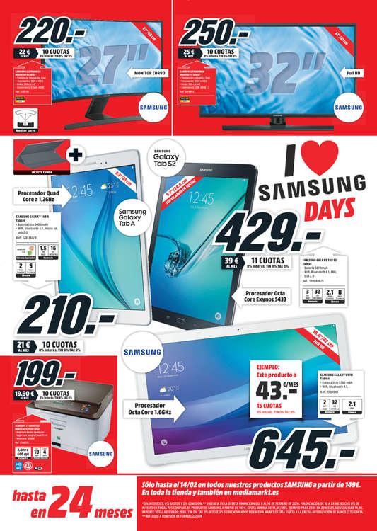 Ofertas de Media Markt, Samsung Days - La Rioja