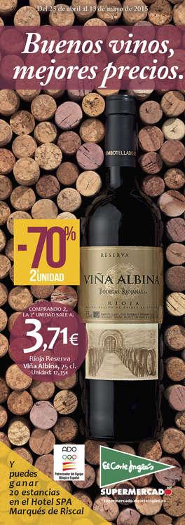 Ofertas de El Corte Inglés, Buenos vinos, mejores precios