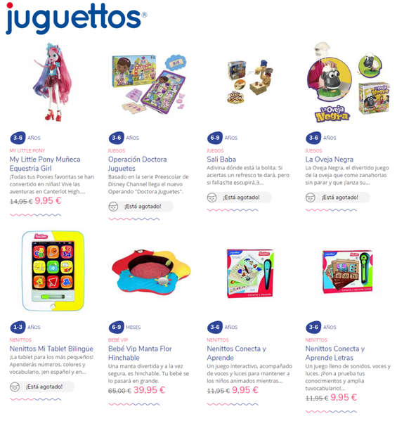 Ofertas de Juguettos, Promociones