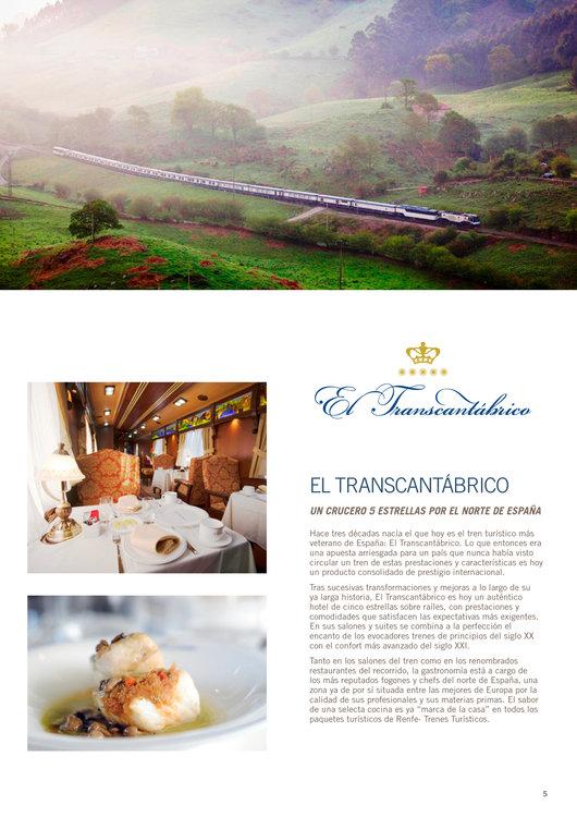 Ofertas de Viajes El Corte Inglés, Trenes de lujo 2014