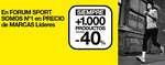 Ofertas de Forum Sport, + de 1.000 productos al -40%