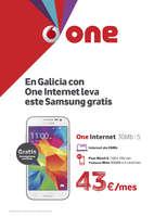Ofertas de Vodafone, En Galicia con One internet leva este Samsung gratis