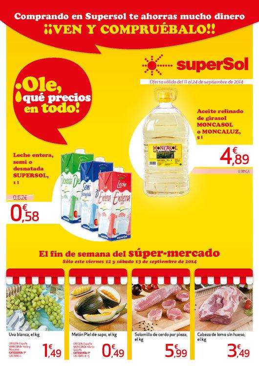 Ofertas de SuperSol, Te ahorras mucho dinero ¡Compruébalo!