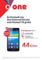 Ofertas de Vodafone, En Euskadi con One Internet llévate este Huawei Y6 gratis