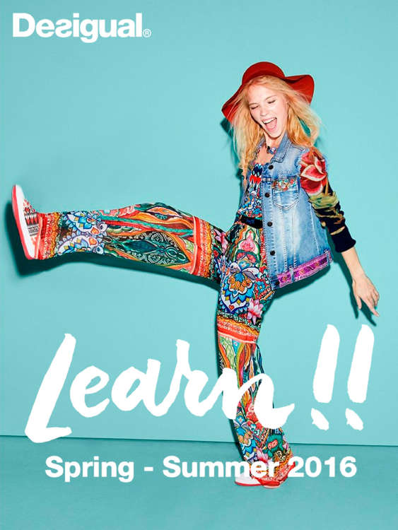 Ofertas de Desigual, Learn!! Spring-Summer 2016 - Woman