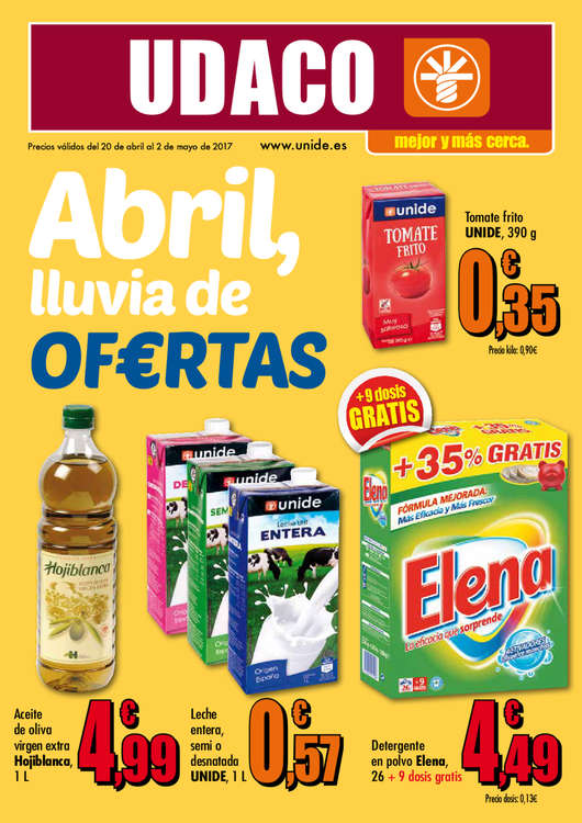 Ofertas de Supermercados Udaco, Abril, lluvia de of€rtas