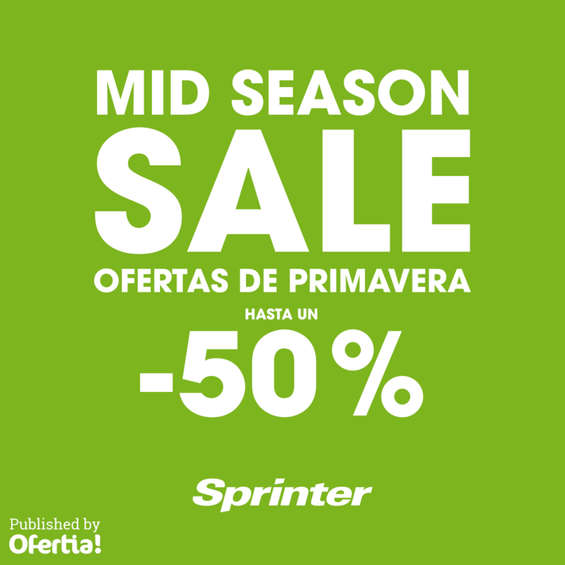 Ofertas de Sprinter, Mid Season Sale