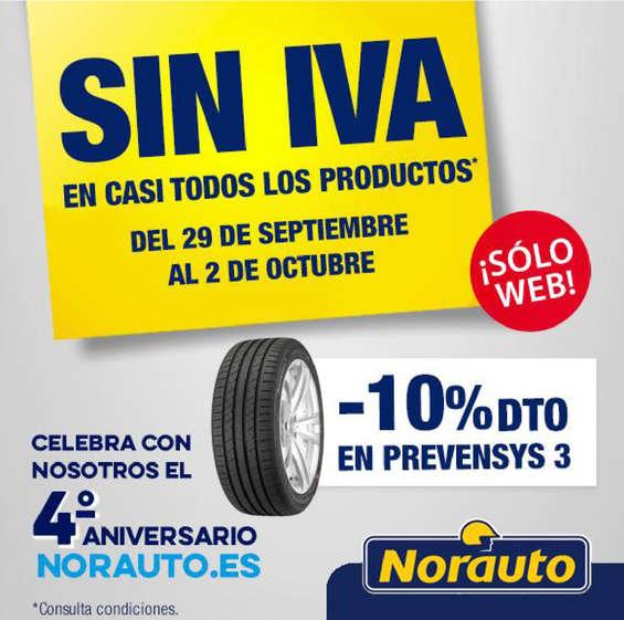 Ofertas de Norauto, SIN IVA