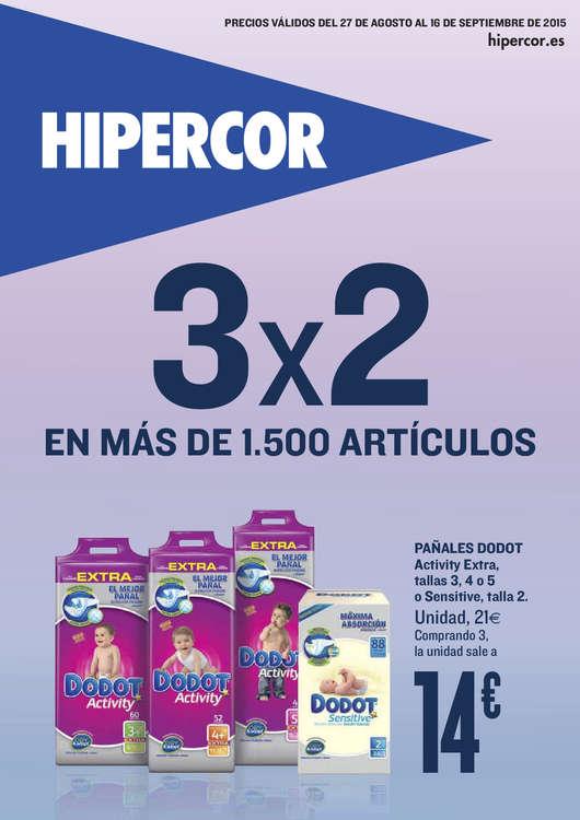 Ofertas de HiperCor, 3x2 en más de 1500 artículos