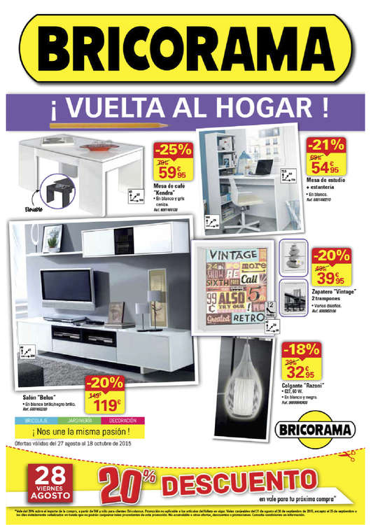 Ofertas de Bricorama, ¡Vuelta al hogar!