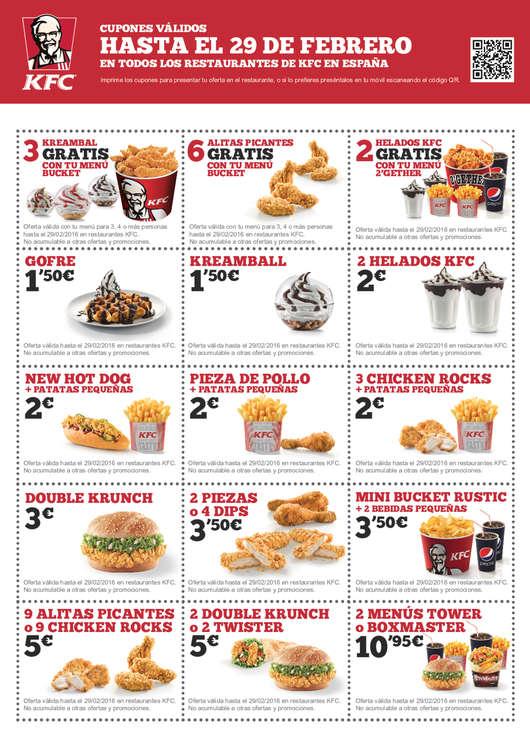 Ofertas de KFC, Cupones KFC