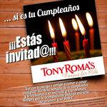 Ofertas de Tony Romas, Promo Cumpleaños