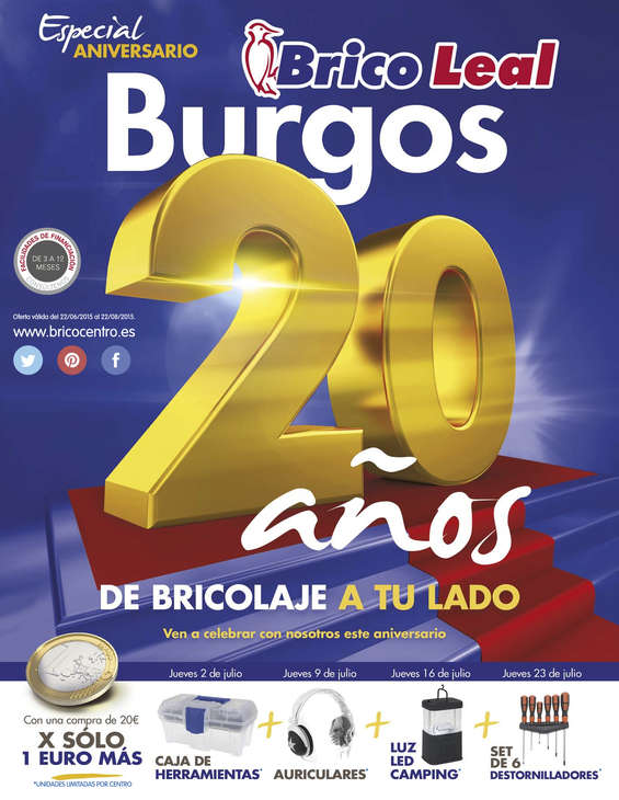 Ofertas de Bricocentro, 20 años de bricolaje a tu lado - Burgos
