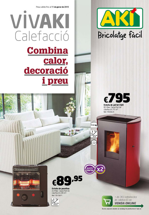 Ofertas de Aki, Guía Vivaki calefacció. Combina calor, decoració i preu