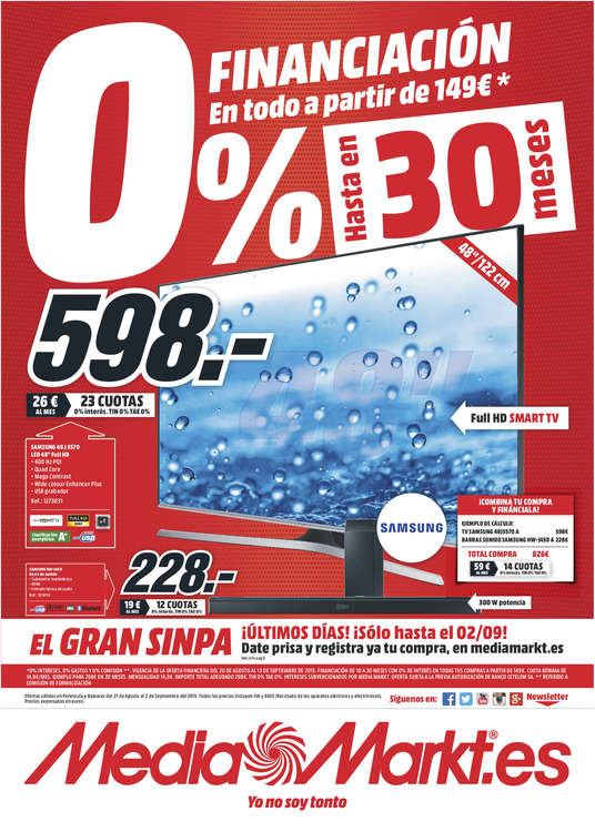 Ofertas de Media Markt, 0% financiación hasta en 30 meses - A Coruña