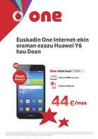 Ofertas de Vodafone, Euskadin One Internet-ekin eraman ezazu Huawei Y6 hau doan
