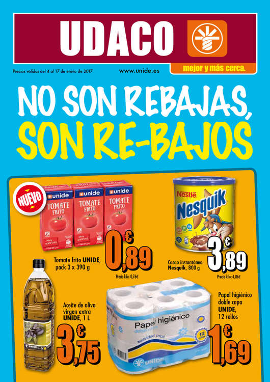 Ofertas de Supermercados Udaco, No son rebajas, son re-bajos