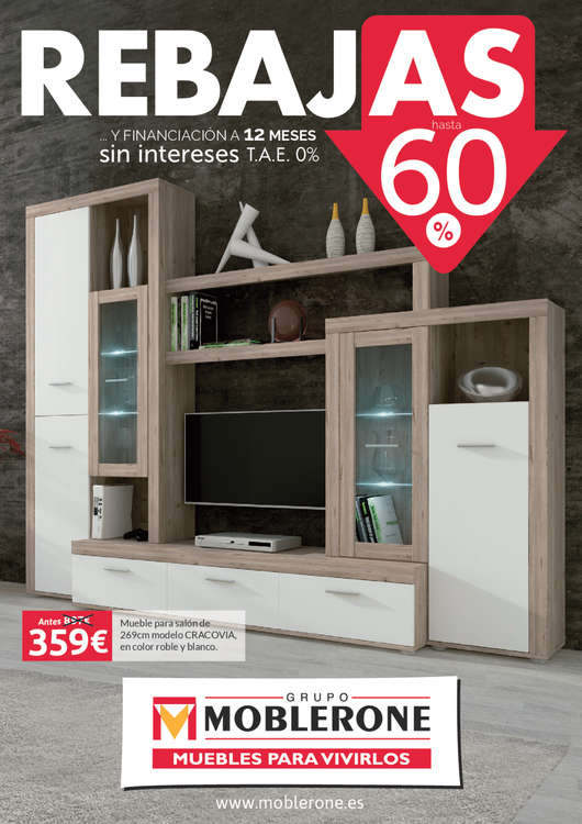 Moblerone zafra ofertas cat logo y folletos ofertia for Muebles ahorro total murcia