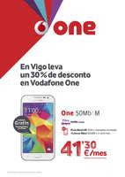 Ofertas de Vodafone, En Vigo leva un 30% de desconto en Vodafone One
