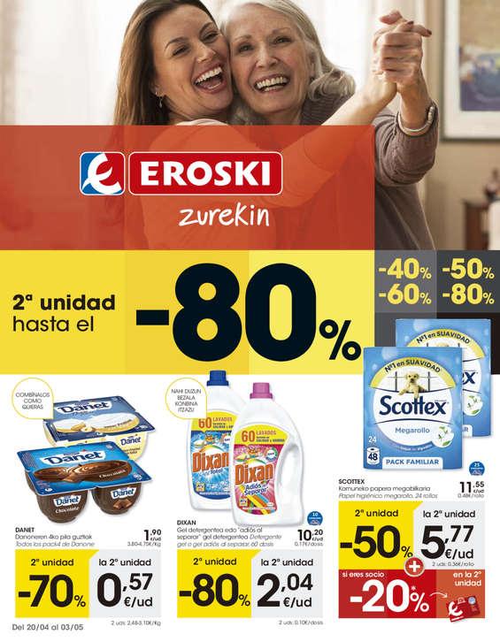 Ofertas de Eroski, 2º unidad hasta el -80%