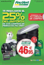 Te regalamos el 25% del importe de tus compras de productos Feu Vert