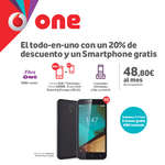 Ofertas de Vodafone, El-todo-en-uno con un 20% de descuento y un smartphone gratis