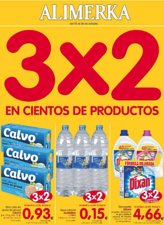 Ofertas de Alimerka, 3x2 en cientos de productos