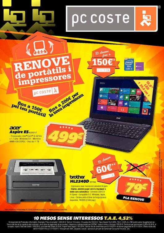 Ofertas de PC Coste, Renove de portàtils i impressores