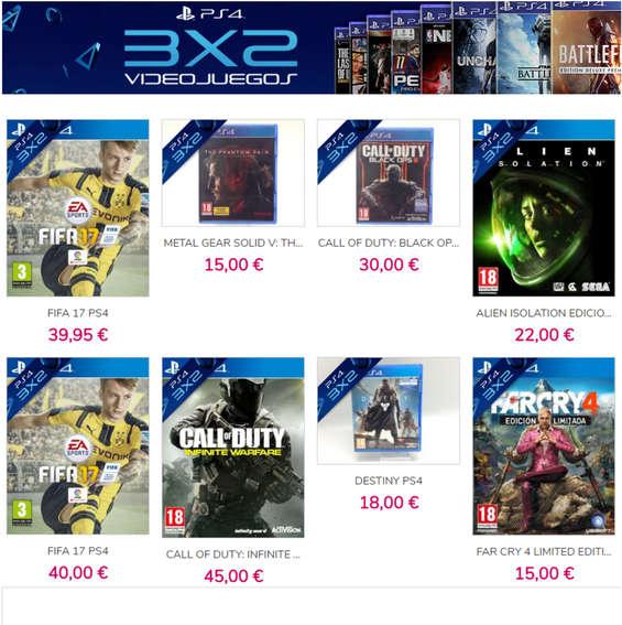 Ofertas de Cash Converters, 3x2 videojuegos